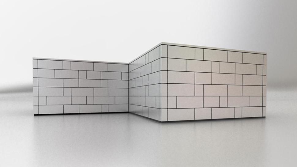 Qbiss One horizontal asymmetrical installation