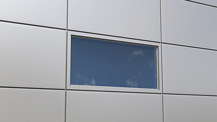 Qbiss One window with visible joint