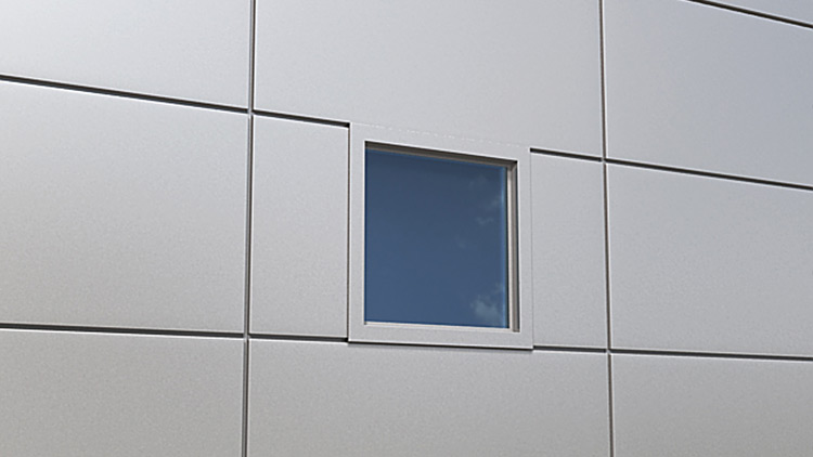 Qbiss One window in joint with covered side edges