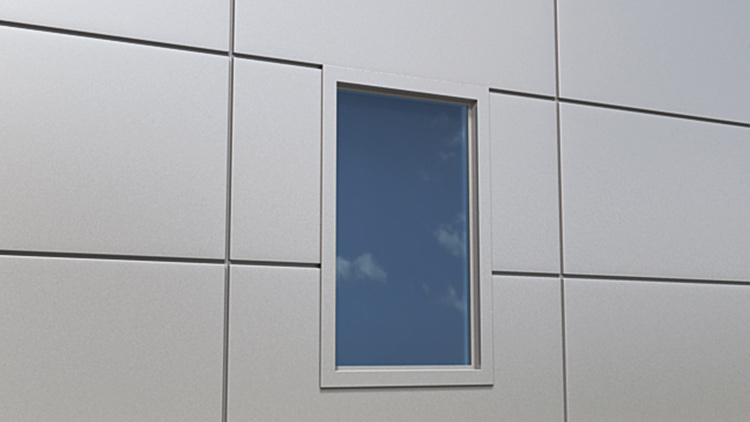 Qbiss One window in top joint with covered side edges