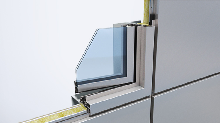 Qbiss One window with glass with opening system