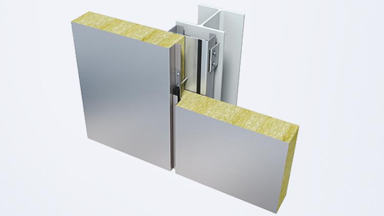 деталь фиксации фасада Qbiss One на стальной конструкции с фундаментом