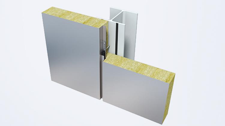 деталь фиксации фасада Qbiss One к стальным конструкциям