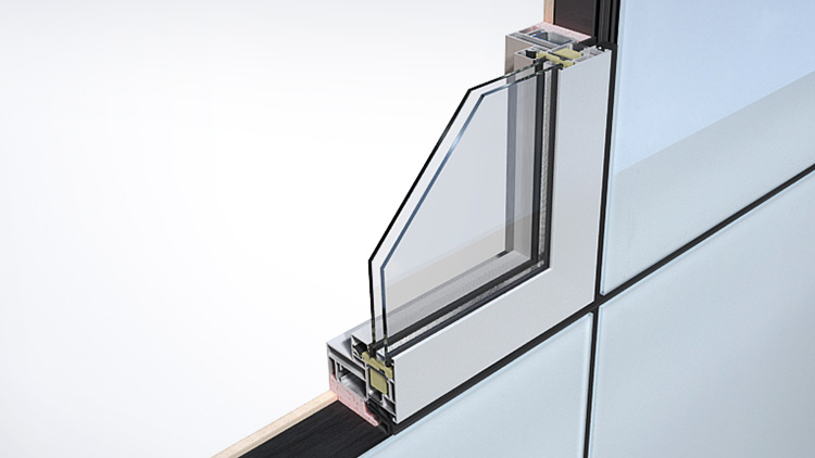 Aluminium frame fixed window