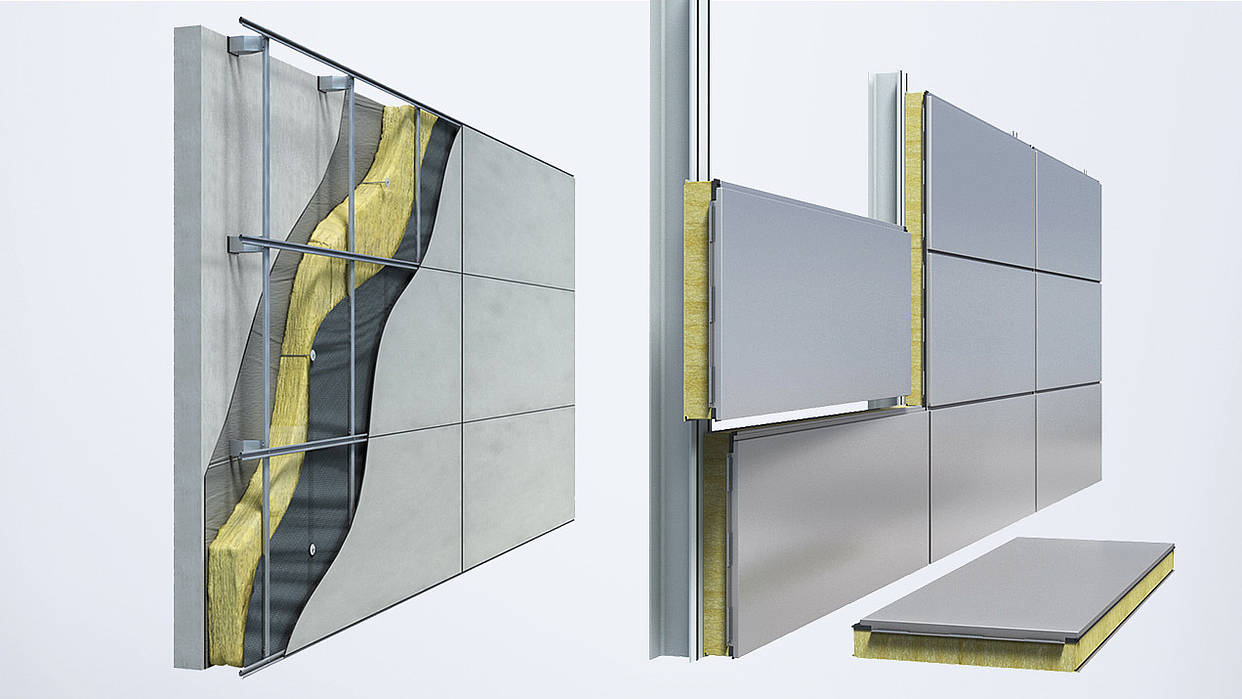Comparison between Qbiss One prefabricated wall solution and classical built-up system