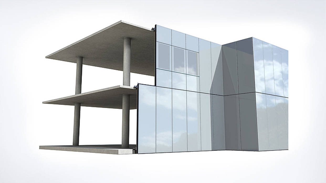 Aluminium Curtain Wall Facades : Q air system trimo building envelope solutions