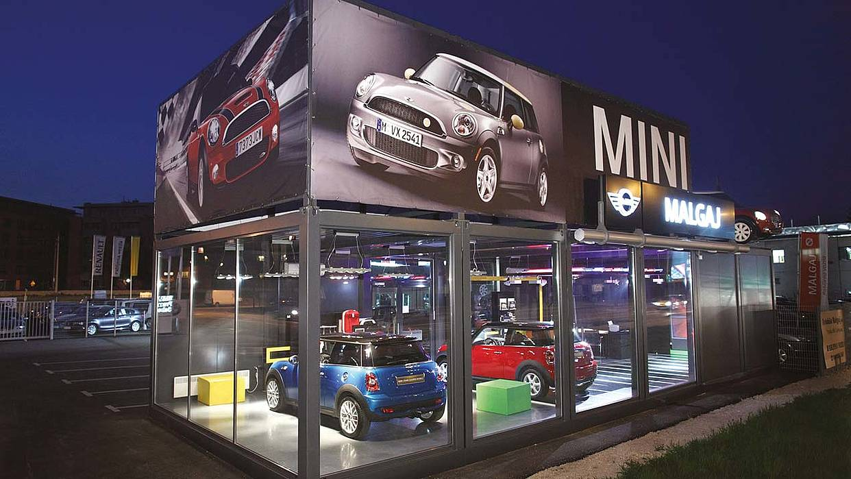 Trimo modular space solution – MINI car showroom
