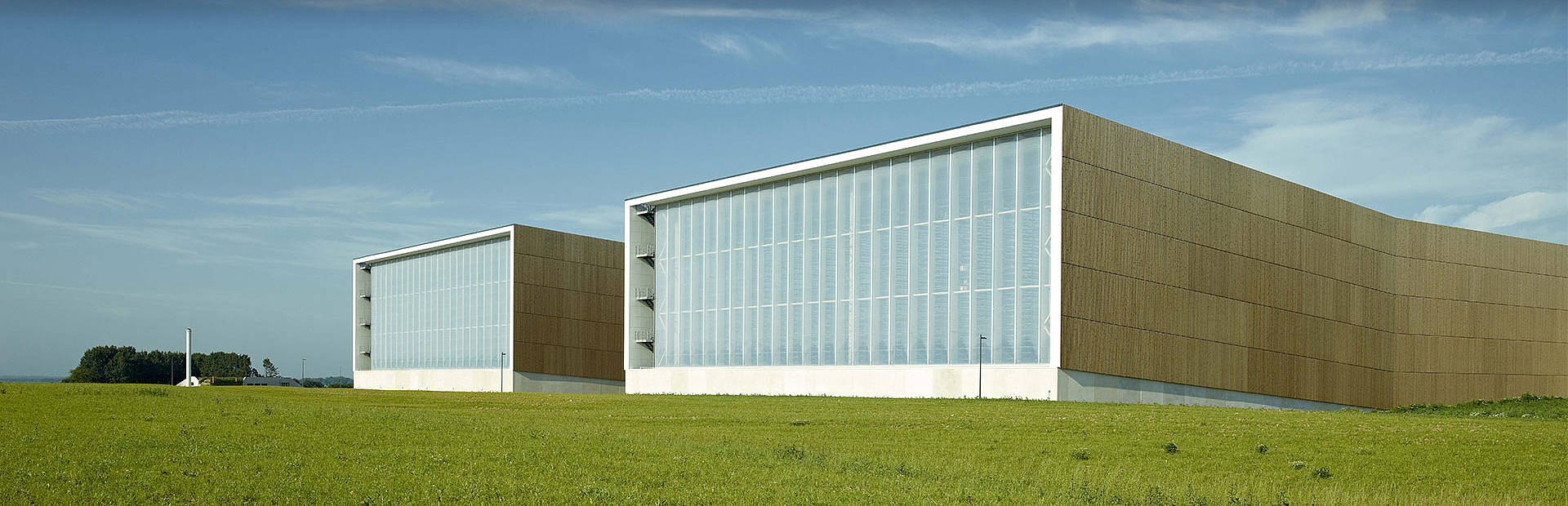 Trimo façade system on Bestseller logistic centre in Denmark