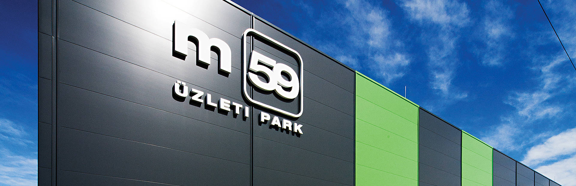 Trimoterm panels on business park m59 in Hungary.