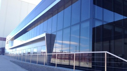 Qbiss Air, a new glass curtain wall façade system, introduced to the world market.